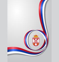 serbian flag wavy background vector image vector image