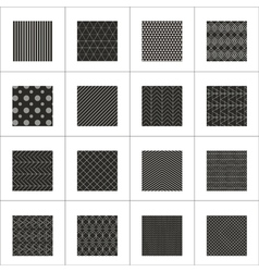 Set of 16 abstract geometric patterns vector