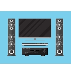 Set of detailed home theater devices vector