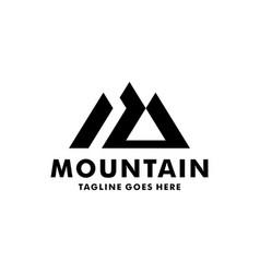 Simple mountain logo design inspiration vector