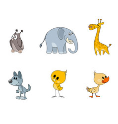six characters for kids vector image
