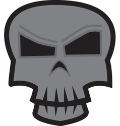 Skull sticker vector image