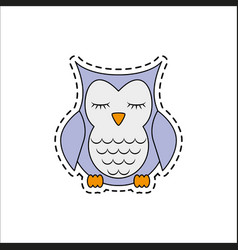 sleeping owl vector image