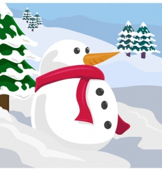 snowman illustration vector image