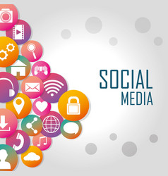 Social media technology vector
