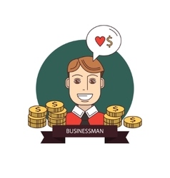 Successful businessman with money vector image