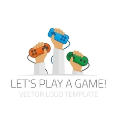 Template logo player vector image
