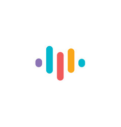 Voice recognition app logo audio equalizer vector