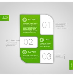 Web site design Ecology background vector image