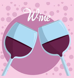Wine glass cups vector