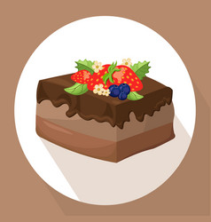 cakes icon template on white background vector image