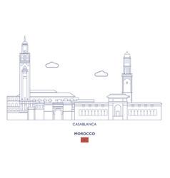 casablanca city skyline vector image vector image