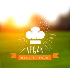 concept of natural vegetarian health food vector image