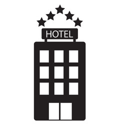 hotel icon on white background hotel sign flat vector image vector image