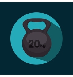 icon dumbbell barbell design vector image