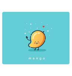 icon of mango fruit funny cartoon character vector image vector image