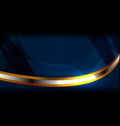 Modern abstract blue geometric vector