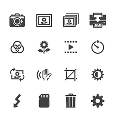 Photography icons and Camera Function Icons vector image
