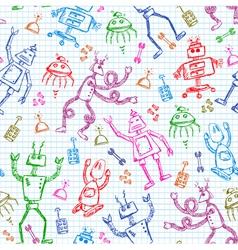 robots pattern vector image vector image