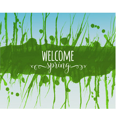 typography composition with welcome spring words vector image
