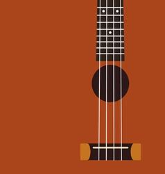 Ukulele background flat design vector image