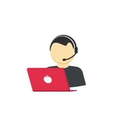 Customer support service assistant call help vector image