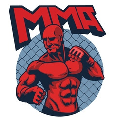 muscle fighter man vector image vector image