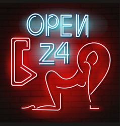 sexy neon sign vector image