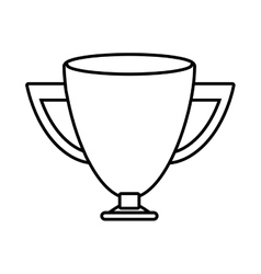 silhouette Trophy Cup sports win vector image
