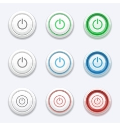 start or power button vector image vector image