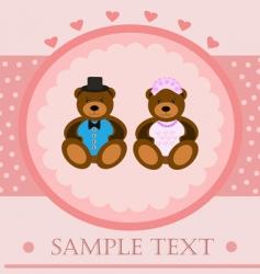 valentine bears greeting card vector image