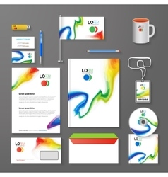 Abstract Corporate Business identity Template vector image vector image