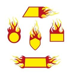burning emblems vector image vector image