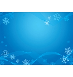 Christmas greeting card blue vector image vector image