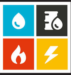 energetic resources icons vector image