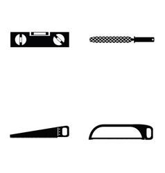 tools icon set vector image