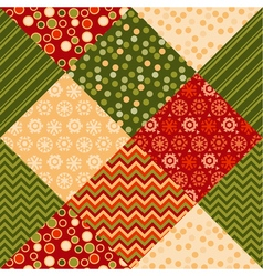 traditional ornament patchwork pattern seamless vector image