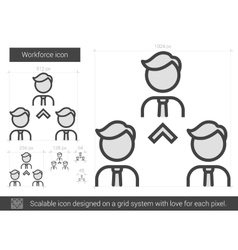 Workforce line icon vector image vector image