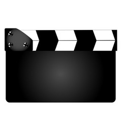 blank movie clapperboard vector image vector image