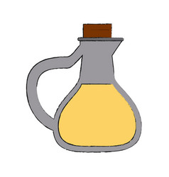 oil glass bottle vector image