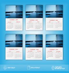 2020 new calendar design vector image