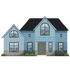 A big blue house vector image