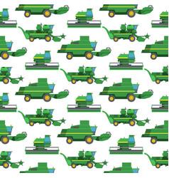 agriculture harvest machine industrial farm vector image