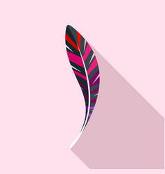 american feather icon flat style vector image