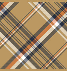 beige plaid tartan diagonal seamless fabric vector image
