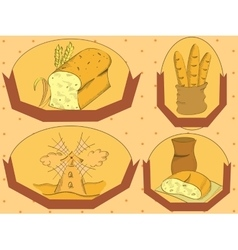 Bread label vector image