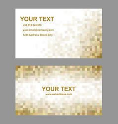 Brown mosaic business card template design vector image