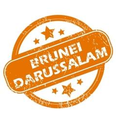 Brunei darussalam grunge icon vector