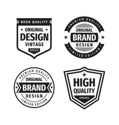 business badges set in retro vintage design vector image