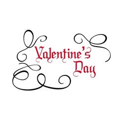 Calligraphic Valentines Day card vector image